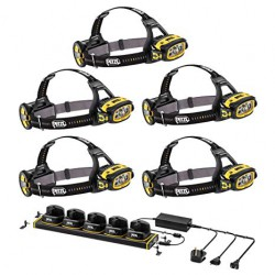 Petzl pack of 5 DUO Z1 headlamps
